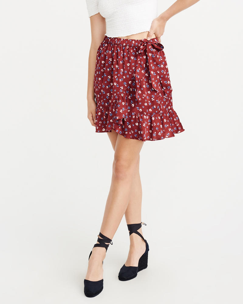 Wrap Front Mini Skirt by Abercrombie & Fitch