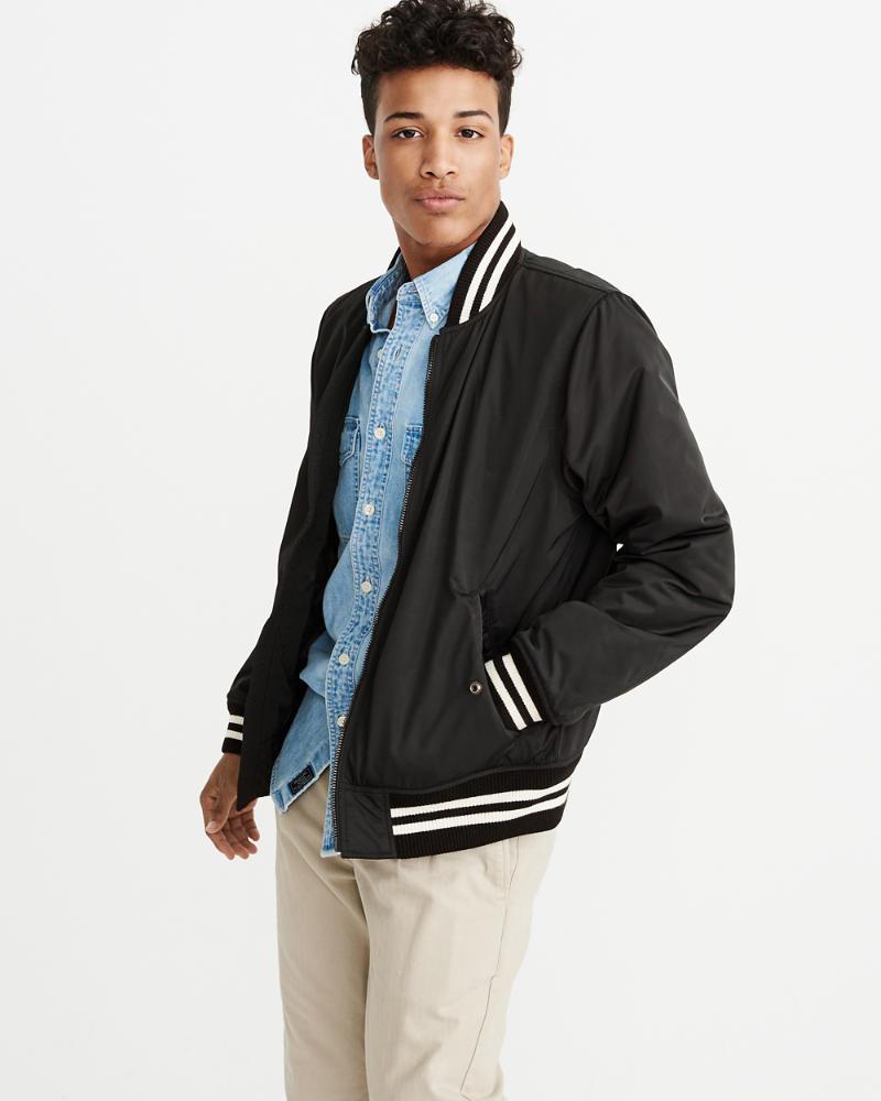 Mens Varsity Bomber Jacket | Mens Coats & Jackets