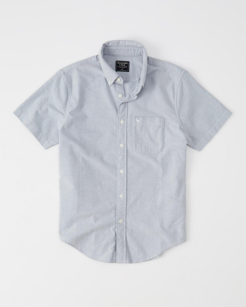 Icon Short Sleeve Oxford Shirt by Abercrombie & Fitch
