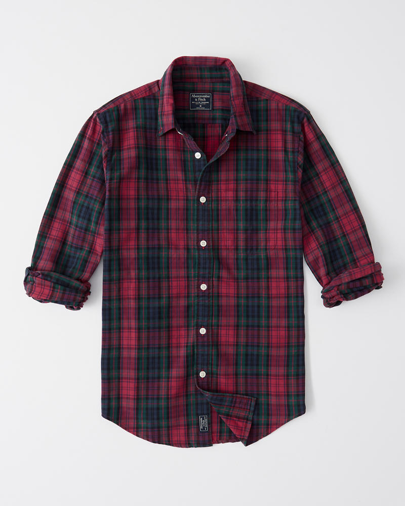 Plaid Oxford Shirt by Abercrombie & Fitch