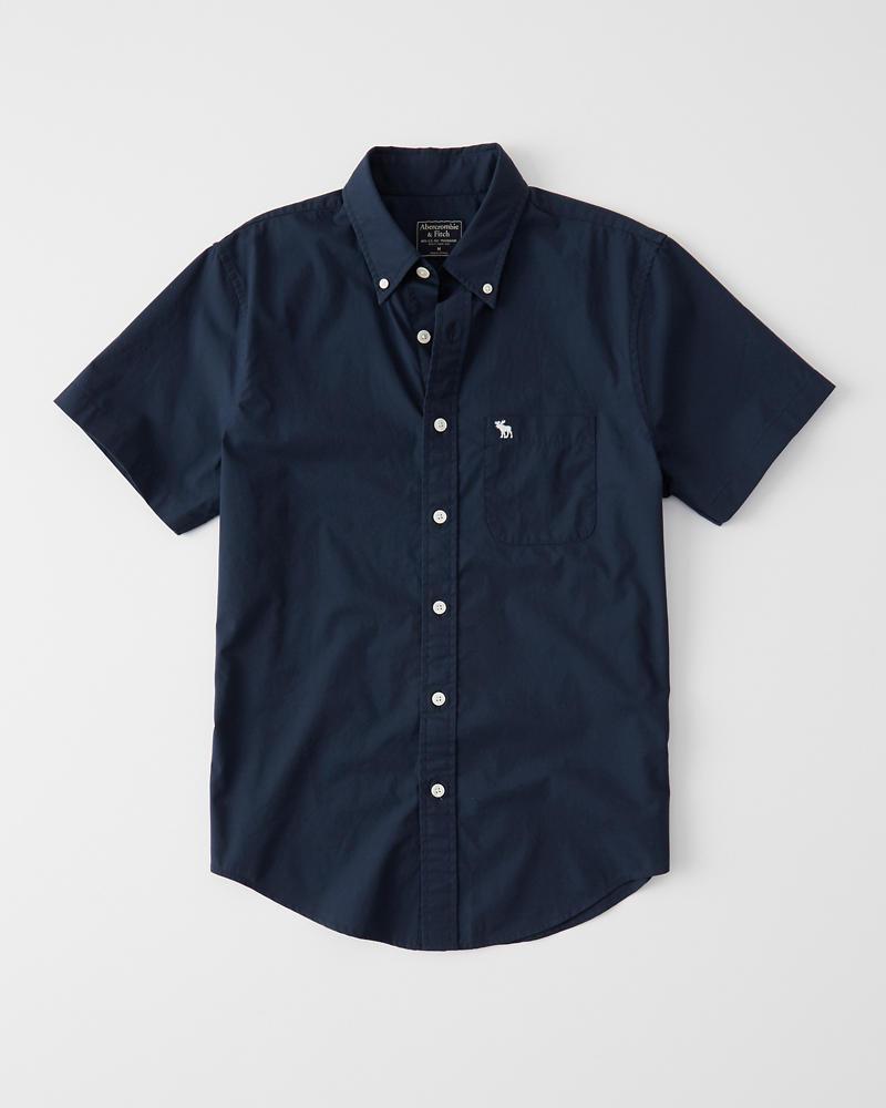 Short-Sleeve Poplin Shirt | Tuggl