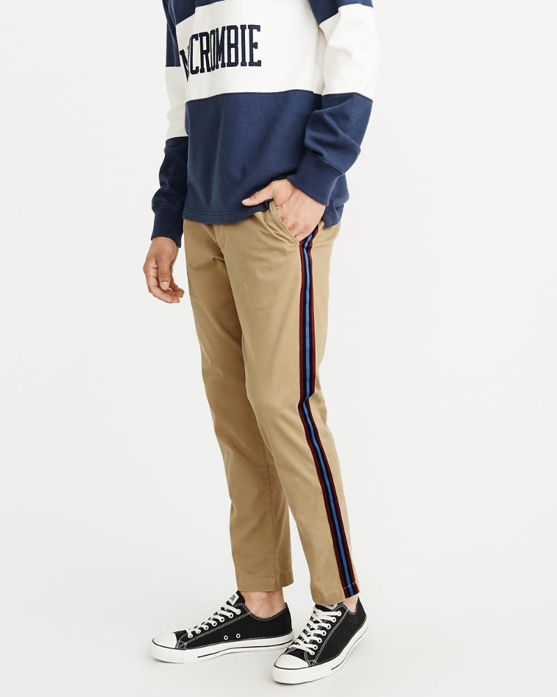 Skinny Side Stripe Chino Pants by Abercrombie & Fitch