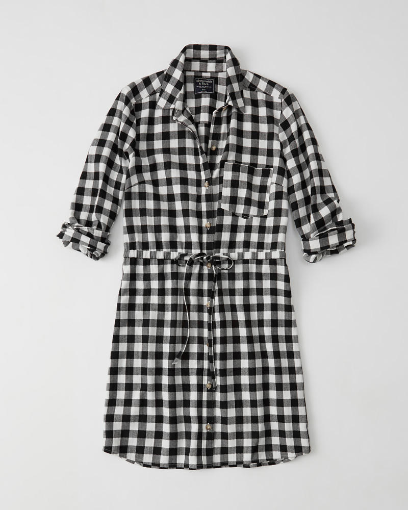 Classic Plaid Shirtdress by Abercrombie & Fitch