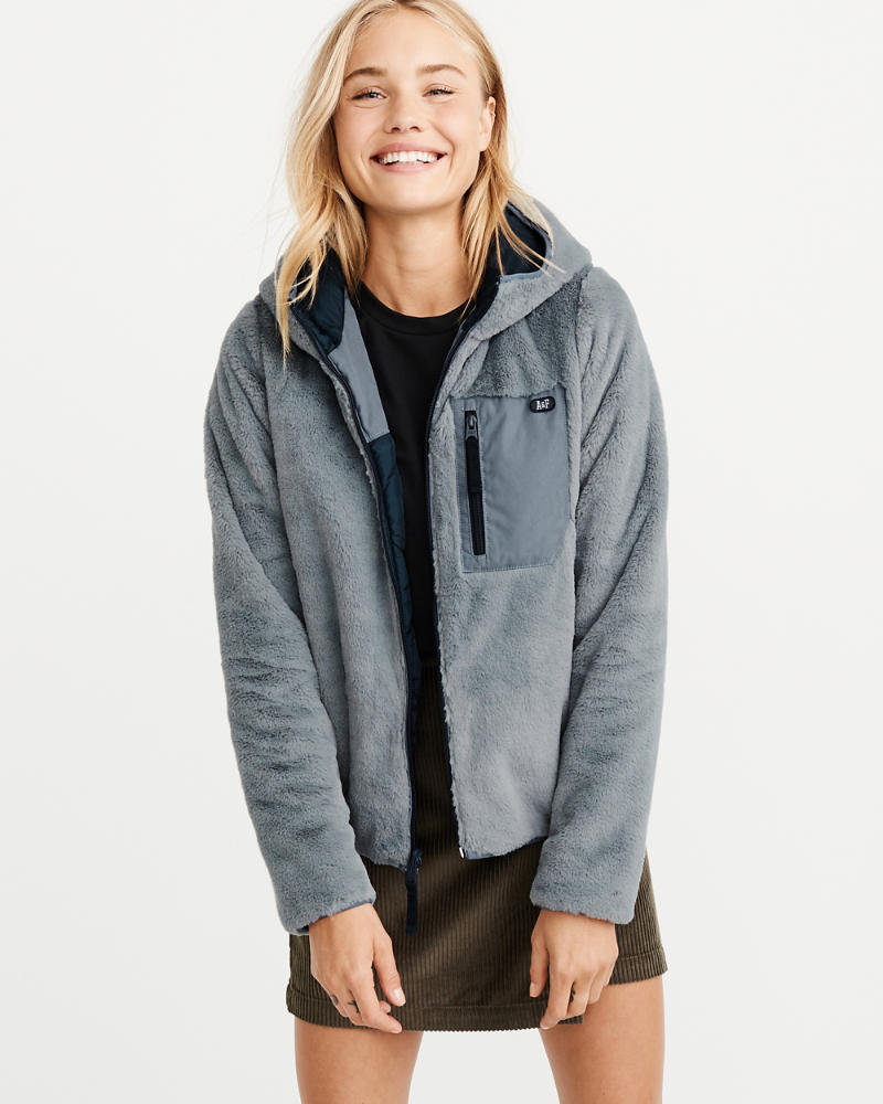 Full Zip Cozy Hooded Jacket by Abercrombie & Fitch
