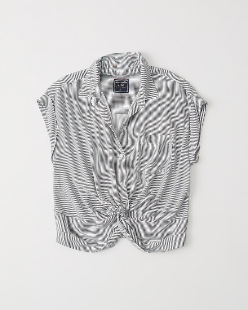 knot-front-blouse by abercrombie-&-fitch