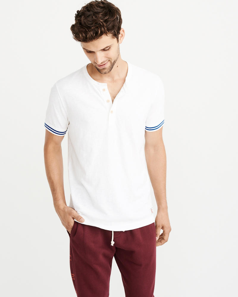 Tipped Varsity Henley by Abercrombie & Fitch