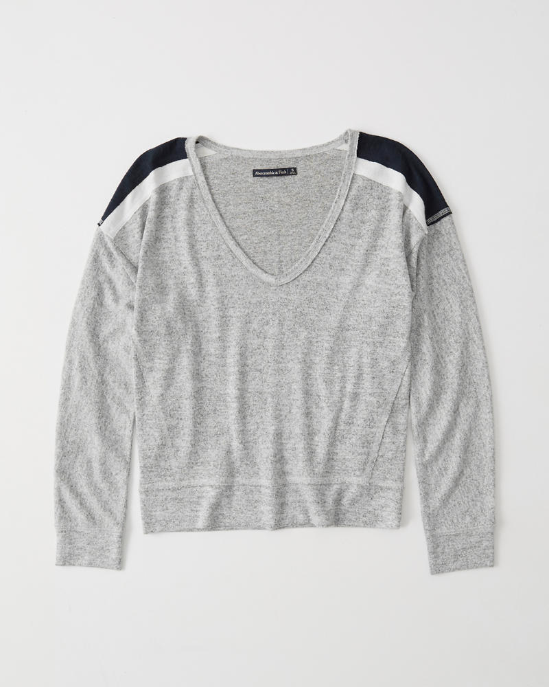 Womens Cozy Sweater-Knit Tee   Womens Clearance   Abercrombie.com