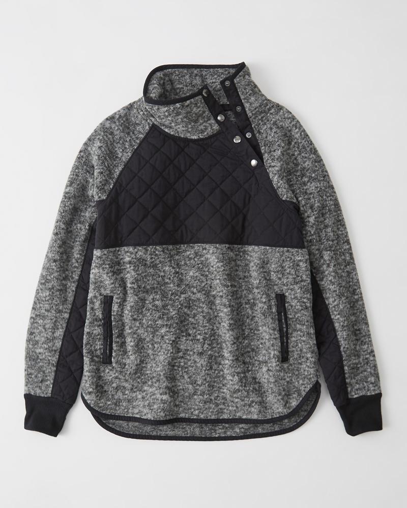 25057b975 Womens Asymmetrical Snap-Up Fleece