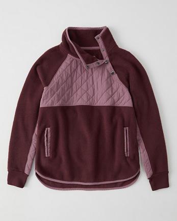 ANFAsymmetrical Snap-Up Fleece