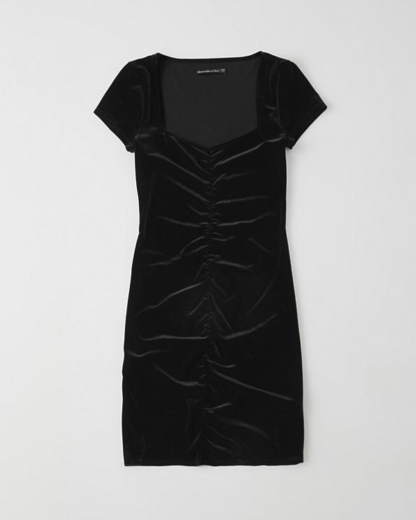 a8914567735 Femme Robe moulante en velours | Femme Réductions | Abercrombie.com