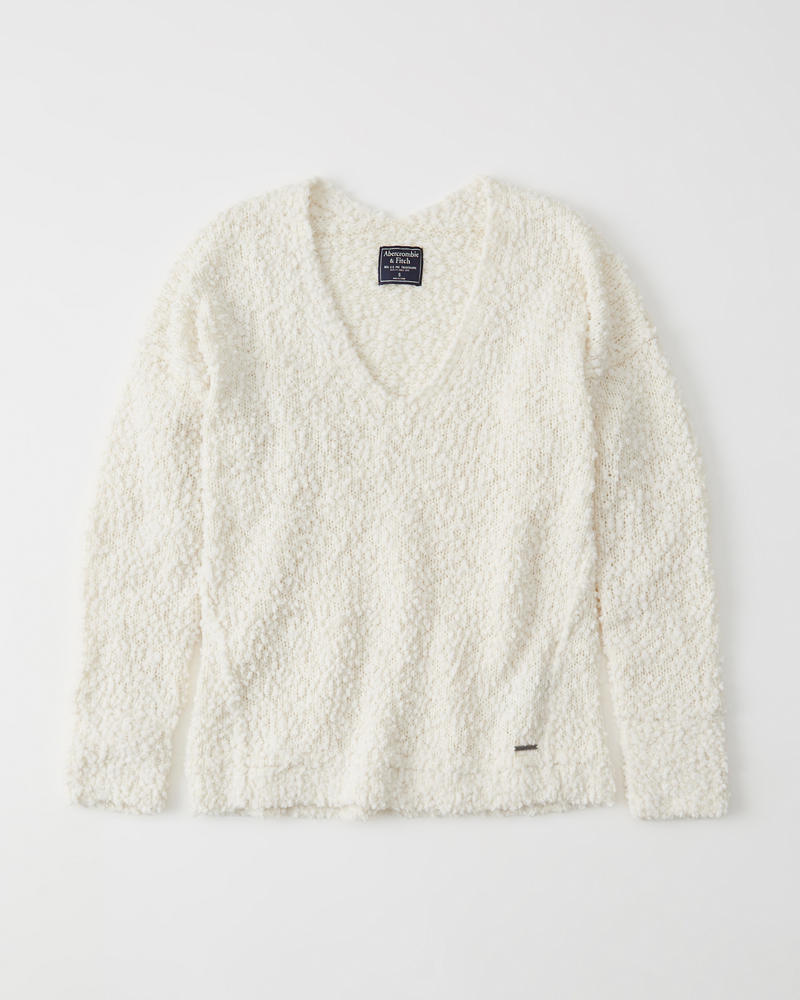 Womens Boucle Sweater   Womens Clearance   Abercrombie.com