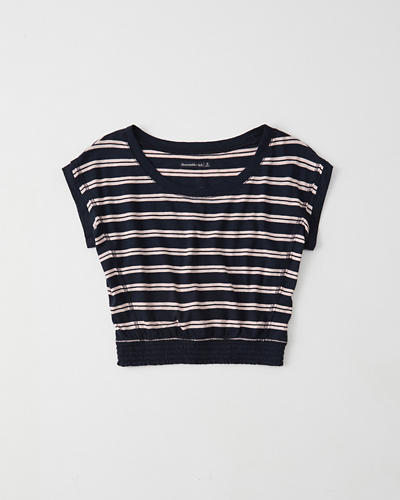 Smocked Hem Tee by Abercrombie & Fitch