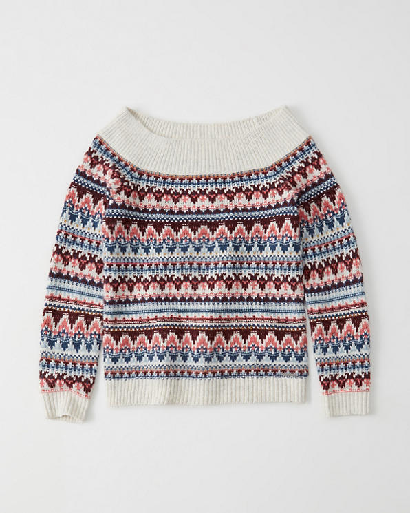 Womens Off The Shoulder Cable Knit Sweater Womens Clearance