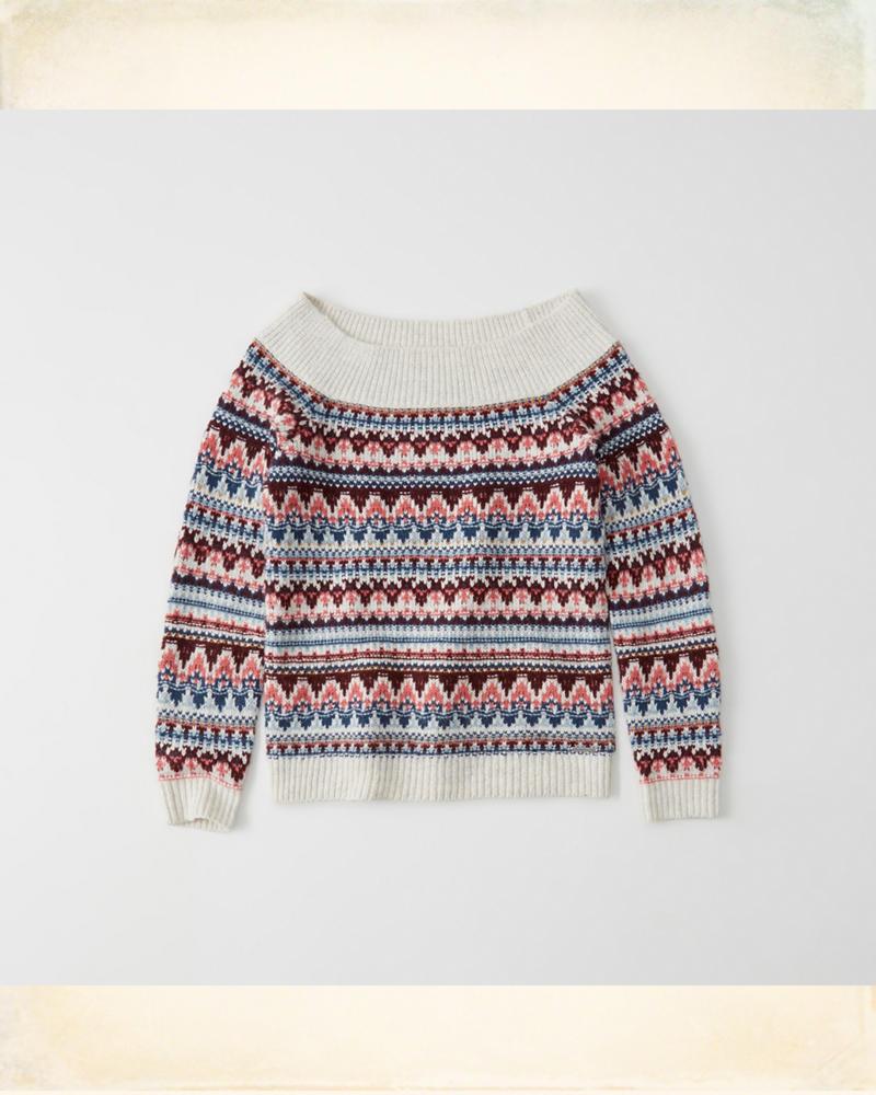 Suéter de tejido trenzado con hombros descubiertos   HollisterCo.com