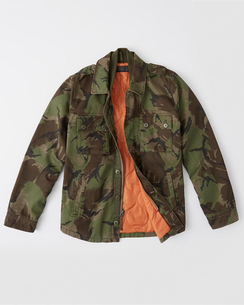3be7d10bd2f62 Mens Military Shirt Jacket | Mens Sale | Abercrombie.com