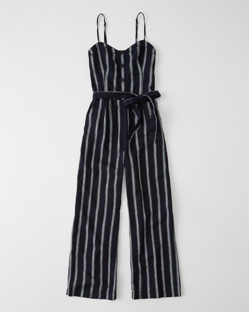 d61d407d701 Womens Belted Button-Front Jumpsuit