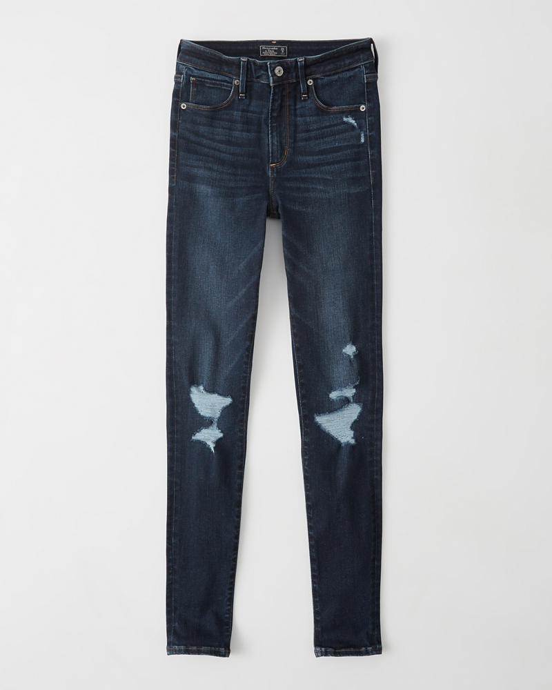Jean Super Skinny Taille Haute by Abercrombie & Fitch