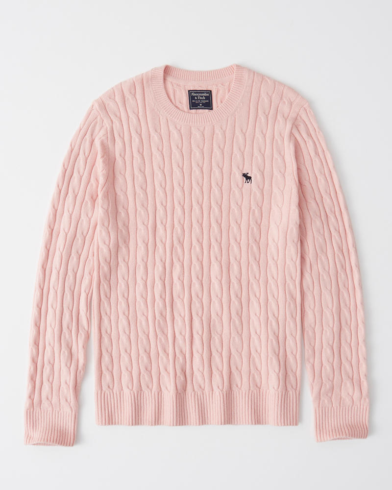 a2624359a4b Mens Icon Cable Knit Sweater