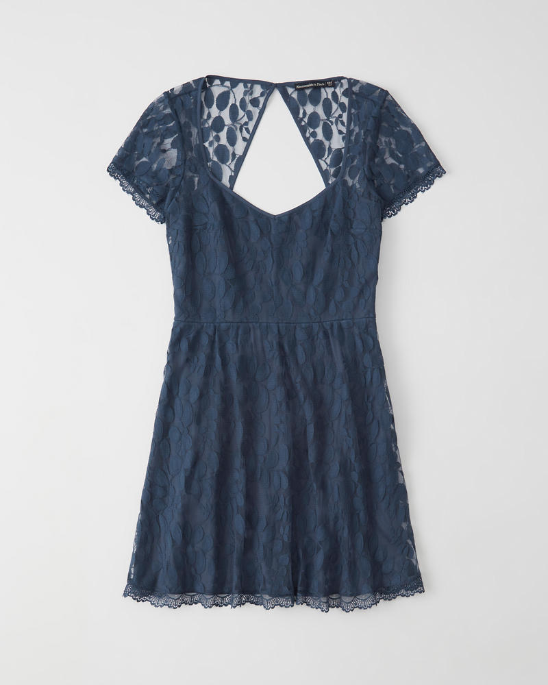 Womens Lace Skater Dress  36e7f9b8b