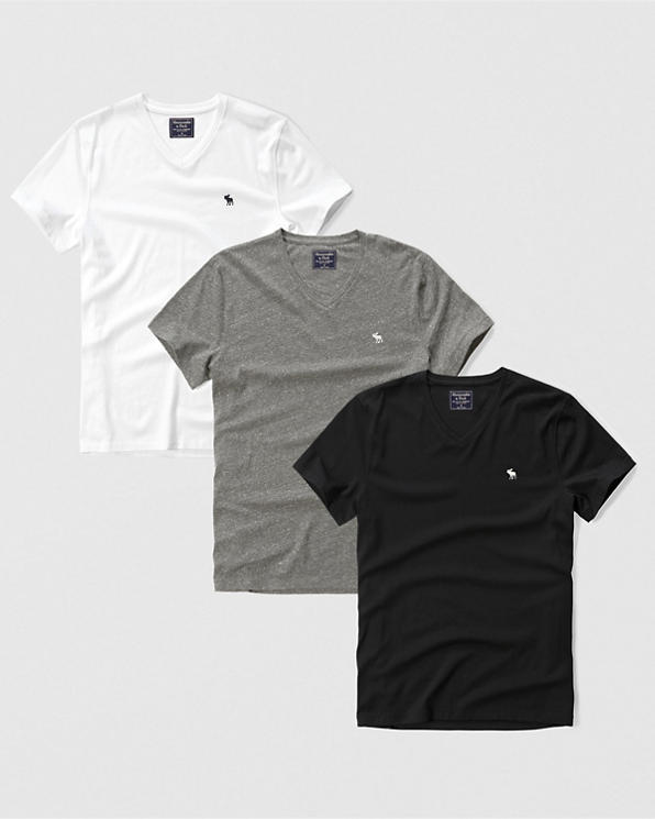 df49ff2dcfd1f Mens 3-Pack Icon V-Neck Tee | Mens Tops | Abercrombie.com