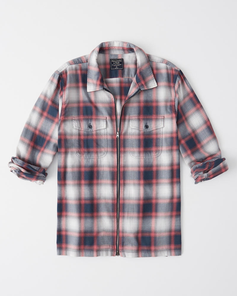 Mens Full Zip Shirt Mens Clearance Abercrombie