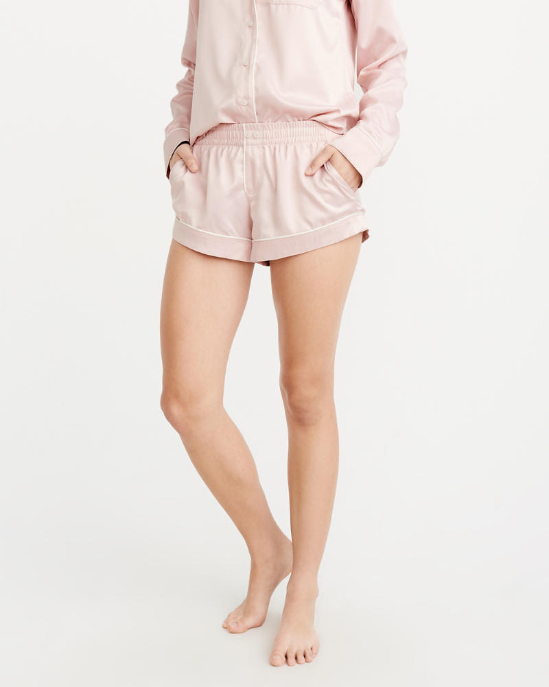 Satin Sleep Shorts by Abercrombie & Fitch