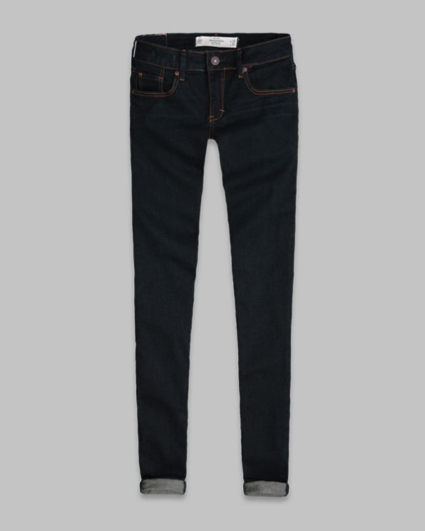 ANF A&F Mid Rise Super Skinny Jeans