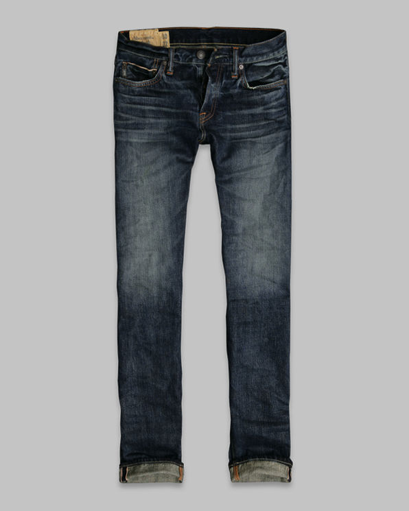 Mens A&F Skinny Selvedge Jeans