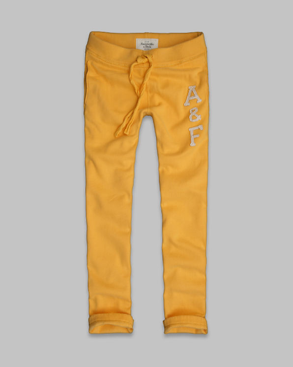 Mens A&F Slim Straight Sweatpants