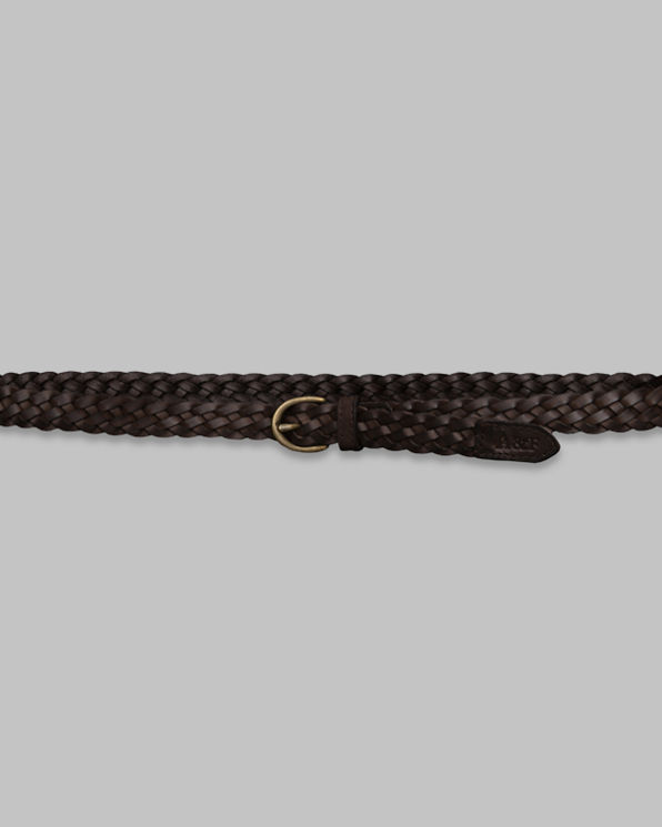 Womens Woven Leather Belt