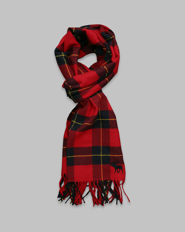 Mens Classic Plaid Scarf