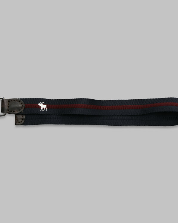 Mens Preppy Striped Belt