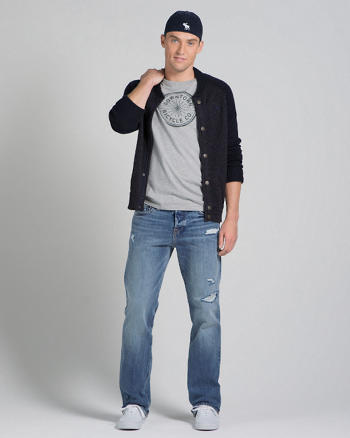 ANF A&F Classic Straight Button Fly Jeans