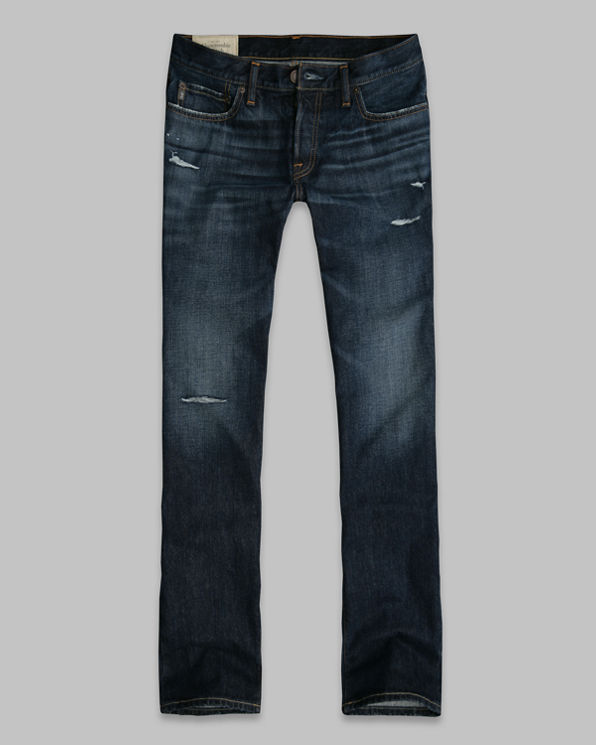 Mens A&F Slim Boot Button Fly Jeans