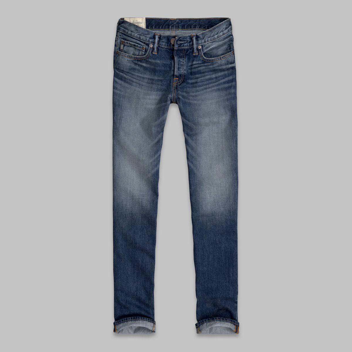 A&F Classic Straight Button Fly Jeans