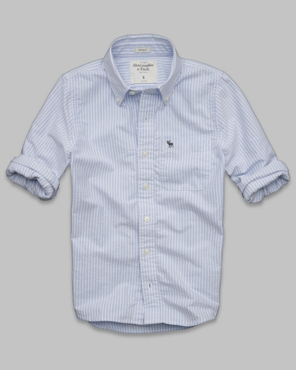ANF South Notch Oxford Shirt