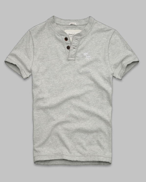 Mens Gray Peak Henley