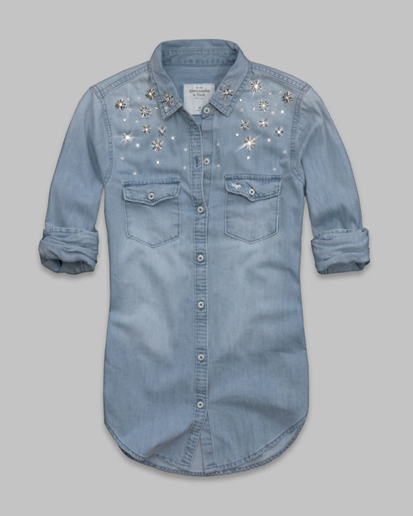 Caily Shine Denim Shirt Caily Shine Denim Shirt