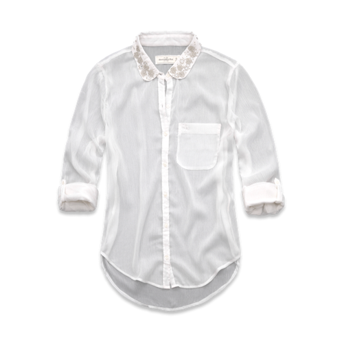 Womens Blake Shine Collar Chiffon Shirt