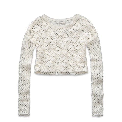 Womens Christa Cropped Sweater