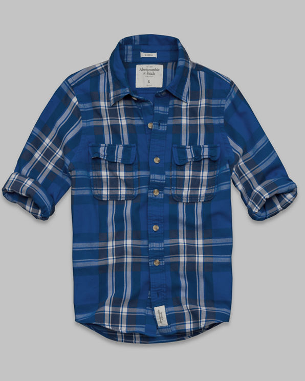 ANF Winch Pond Twill Shirt