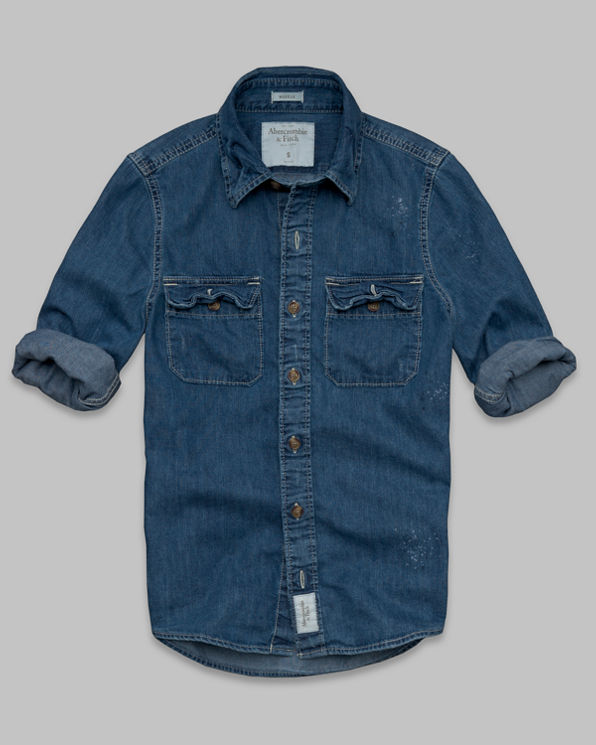 Mens Moody Pond Denim Shirt