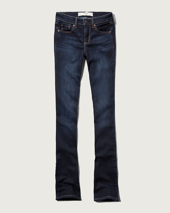 Womens A&F Zoe Boot Mid Rise Jeans