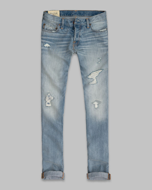 Mens A&F Skinny Button Fly Jeans