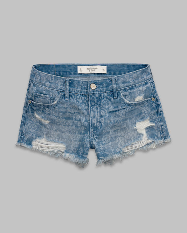 Womens A&F Mid Rise Shorts