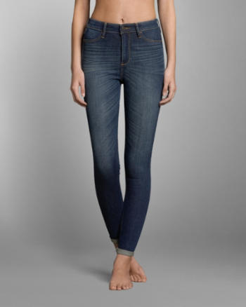 Womens A&F Super High Rise Jeggings