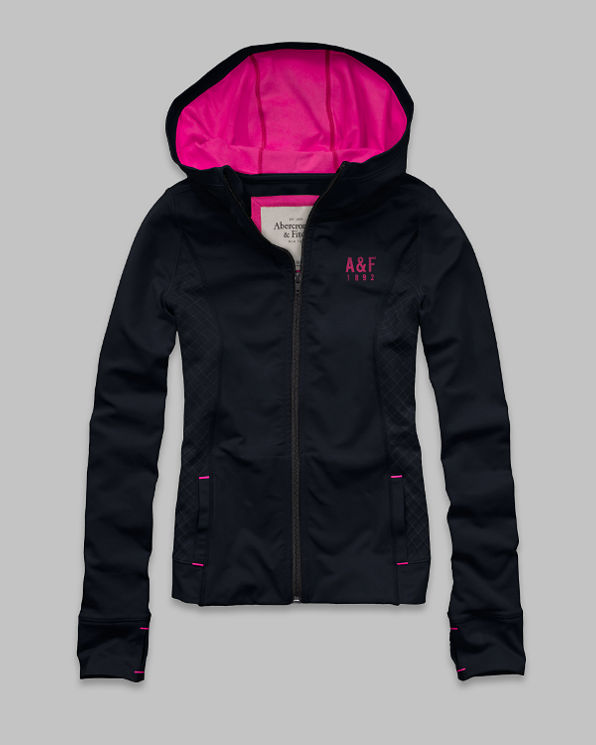 Womens A&F Active Zip-Up Hoodie