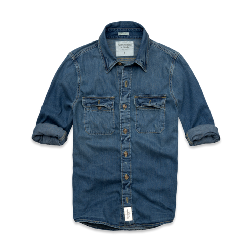 Mens East River Trail Denim Shirt