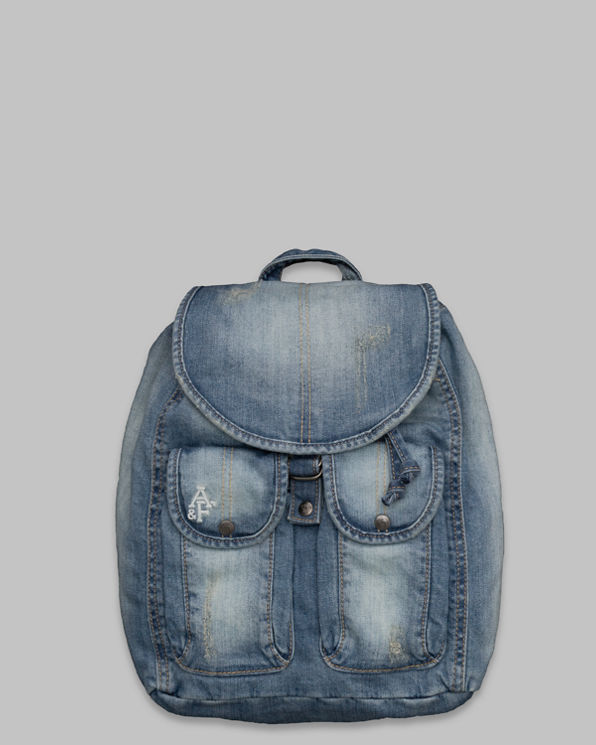Womens Denim Backpack