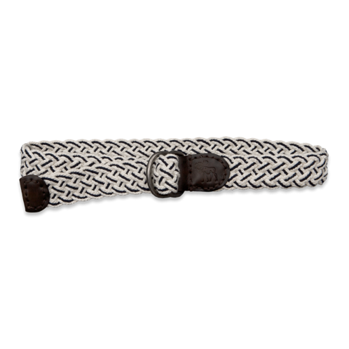 Mens Striped Woven Belt
